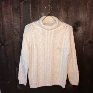 Vintage Chunky Cable Knit Turtleneck Sweater